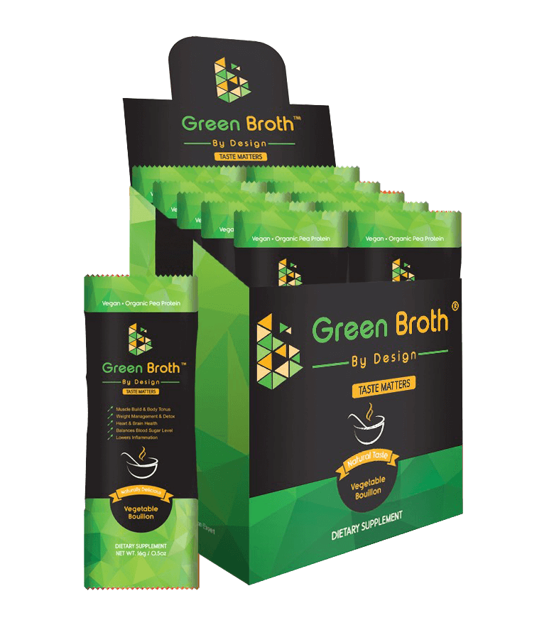 green broth by design sachets box